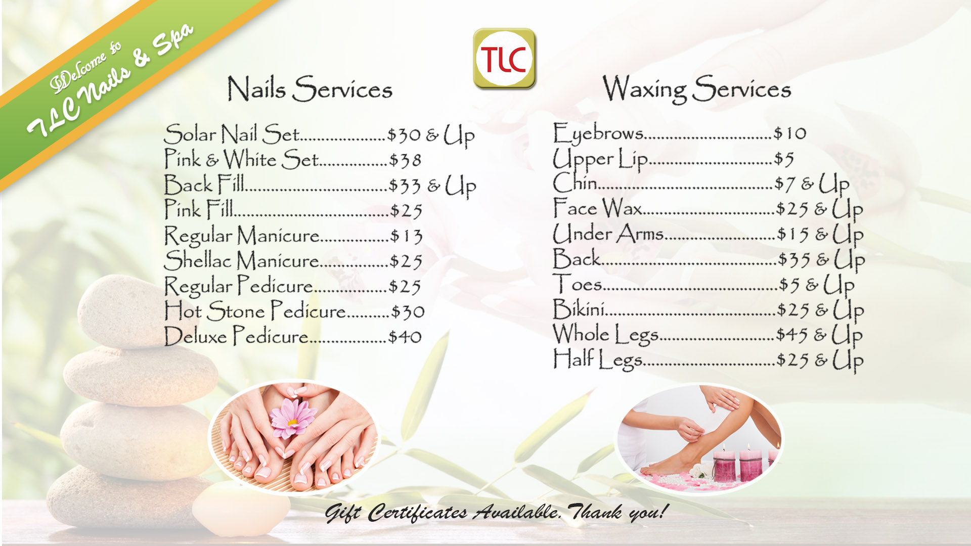 Our Services   TLC Nails & Spa
